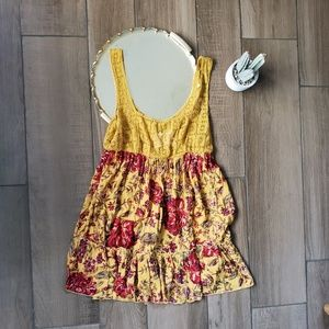 Anthro Out from Under Lace Floral Scoop Mini Dress